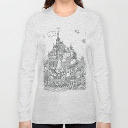 Mont Saint Lapino - Line Art Long Sleeve T-shirt