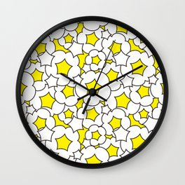 Bursted popcorn pattern Wall Clock