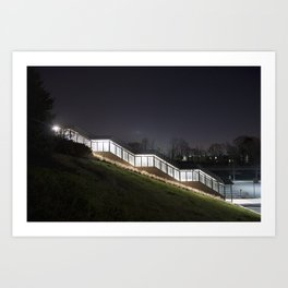 Covered Stairs Art Print