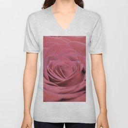 Pink rose 2 Unisex V-Neck