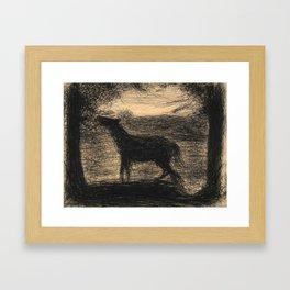 Georges Seurat - Le Poulain - Foal - The Colt - Rare Retro Vintage Drawing Framed Art Print