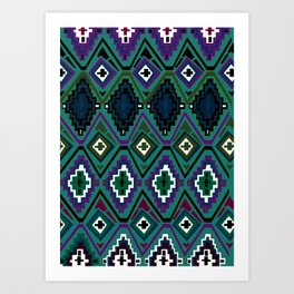 Tribal Stripe Art Print