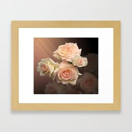 The Roses Blush at Dawn Framed Art Print