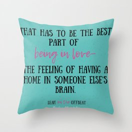 Leah on the Offbeat by Becky Albertalli quote Throw Pillow