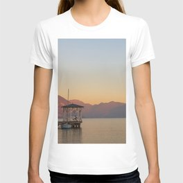 sunset over the quiet waters of Lake Iseo T-shirt