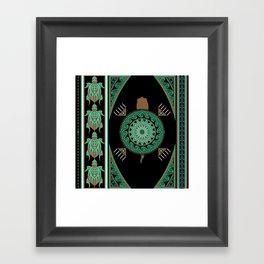 Green Turtle Framed Art Print