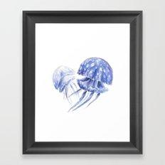 Jellyfish Sketch Framed Art Print