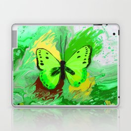 Neon Green Butterfly Laptop & iPad Skin