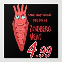 zoidberg Canvas Prints featuring Zoidberg meat for sale by SEANLAR94