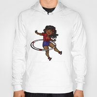 rockabilly Hoodies featuring Rockabilly Hula Hoop Girl by roryseviltwin