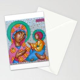 modern folk icon - Folk Madonna 4 Stationery Cards