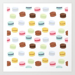 Sweet Macaroon Pattern Art Print
