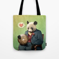 Wise Panda: Love Makes the World Go Around! Tote Bag