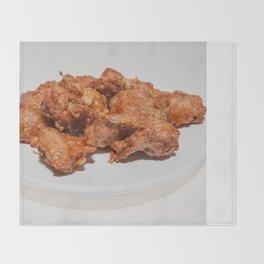 fried chicken wings Throw Blanket