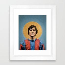 JC - Football Icon Framed Art Print