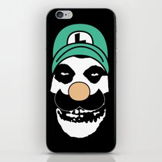 Misfit Luigi iPhone & iPod Skin
