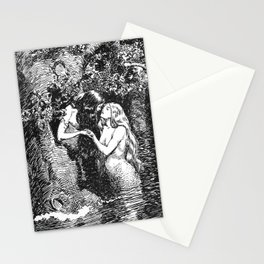 The Nymph Caught the Dryad in Her Arms - HR Millar (1904) Stationery Cards