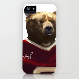 Big Red Bear Portrait iPhone Case