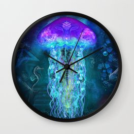 Luminescent Jellyfish Wall Clock