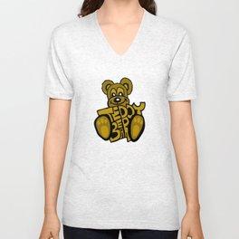 Teddy Bear Unisex V-Neck