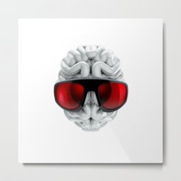 Keep a Cool Mind Metal Print