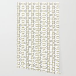 Gold and Silver Rings Polka Dot Pattern Wallpaper
