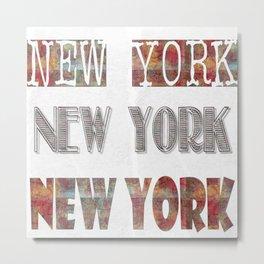 New York Typo Metal Print