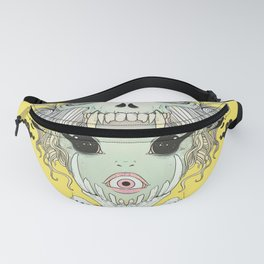 VooDoo Skull Witch, Gothic Artwork Fanny Pack