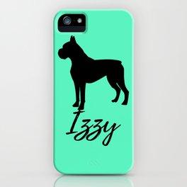 Boxer Izzy Mint iPhone Case