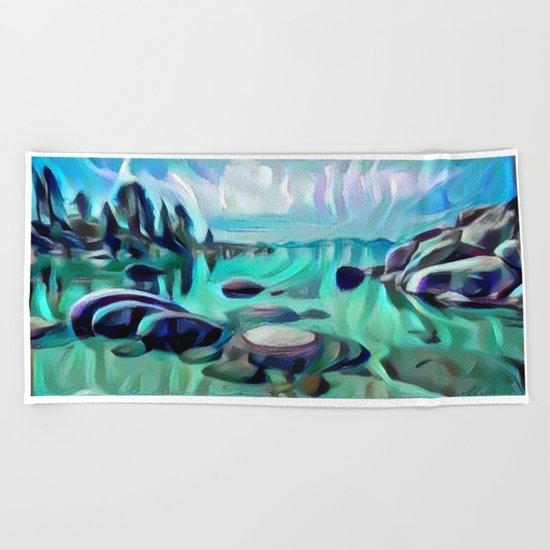 Sand Harbor Beach Towel