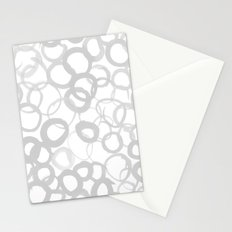 Watercolor Circle Gray Stationery Cards