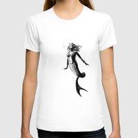 mermaid T-shirts featuring Mermaid by Derek Stewart