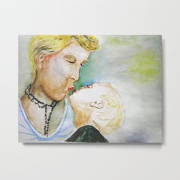 Mutter mit Kind, Mother and Child Metal Print