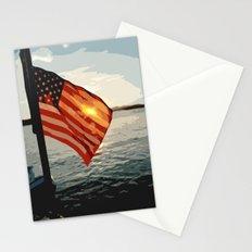 Patriot's Sunset Stationery Cards