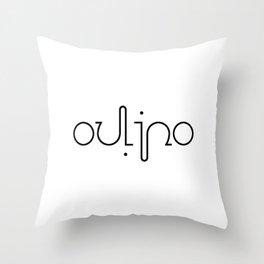 OULIPO ambigram Throw Pillow