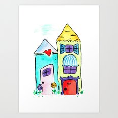 Apt 4A Watercolor Art Print