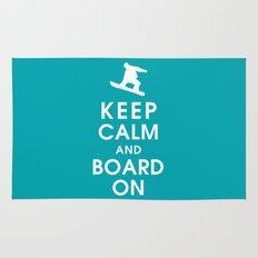 Keep Calm and Board On Rug