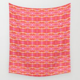 Waves of pink Wall Tapestry