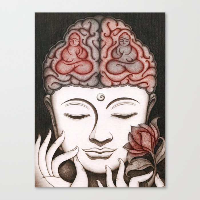 How meditation changes your brain... and makes you wiser? Canvas Print