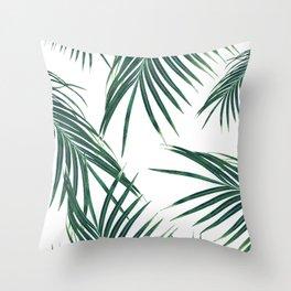 Green Palm Leaves Dream #2 #tropical #decor #art #society6 Throw Pillow
