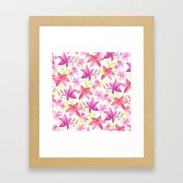 Clematis flower Framed Art Print