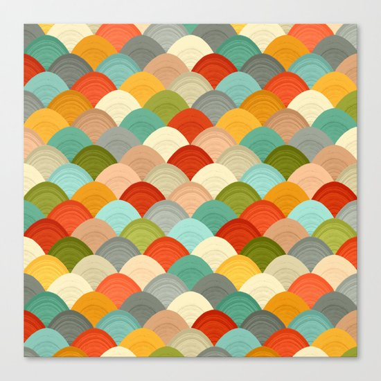 yarn hill dollops Canvas Print