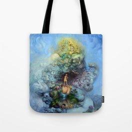 BLUE GOLD FANTASIA Tote Bag