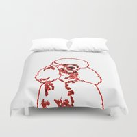 poodle Duvet Covers featuring Poodle by Mike van der Hoorn