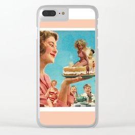 Summer Cake Clear iPhone Case