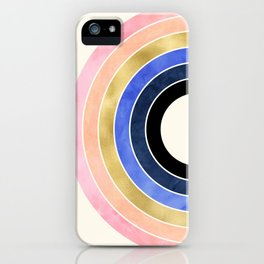 Rainbow With Gold iPhone Case