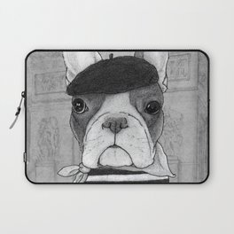 French Bulldog. (black and white version) Laptop Sleeve