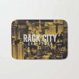 Black Yellow Cool Rack City Las Vegas Photography Bath Mat