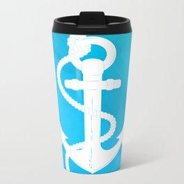 White Anchor Metal Travel Mug