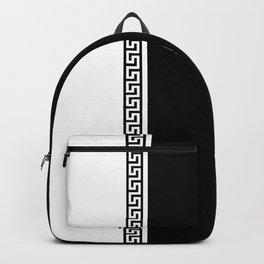 Greek Key 2 - B & W Backpack